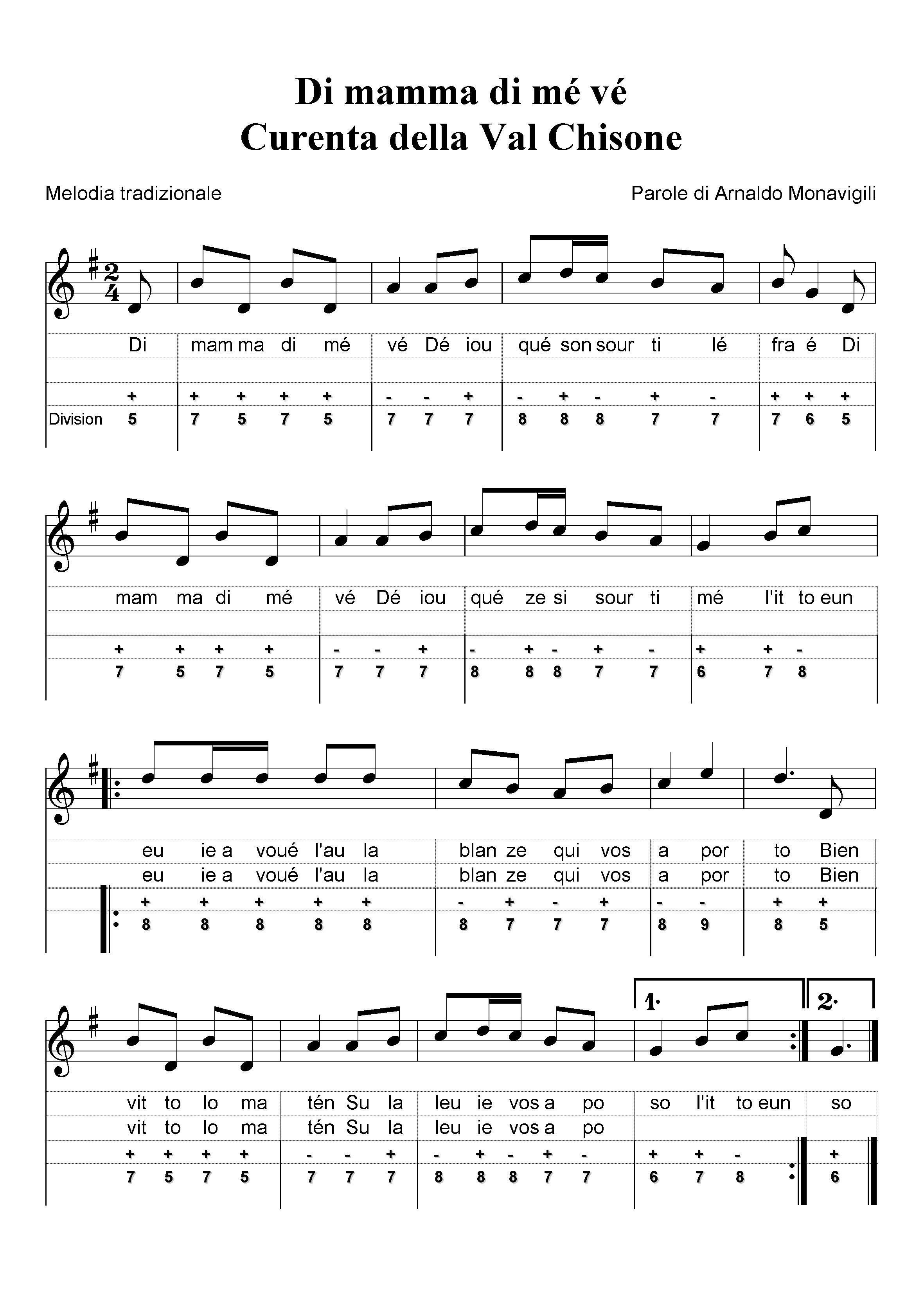 Spartiti canzoni