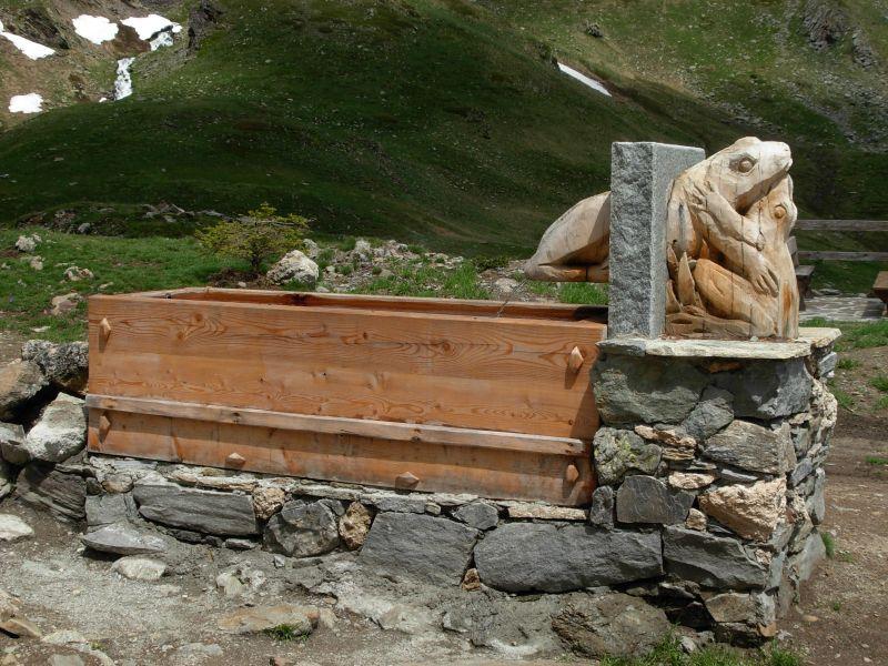 Escursione al rifugio mont fall re di saint pierre da vetan for Fontane in legno