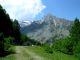 Alpe Valmeriana, sulla destra la Cima Nera
