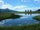 Il lago di Cortina, sulla sinistra il Monte Tantané